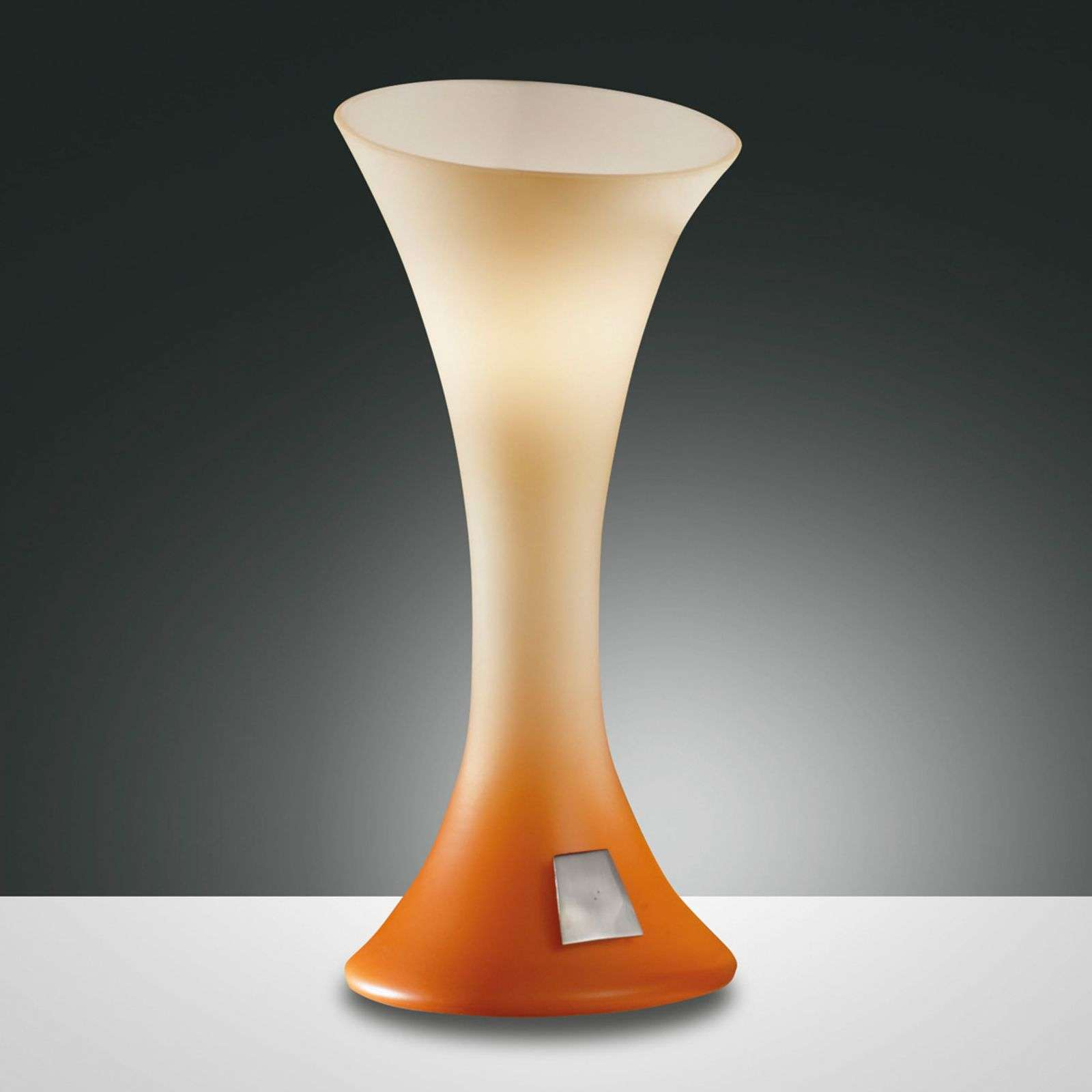 NIKITA table lamp with touch dimmer orange