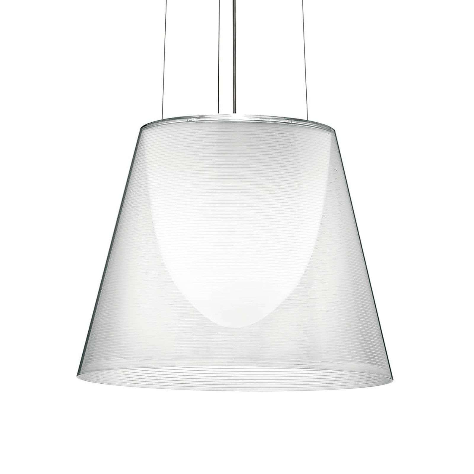Wall lamps|Ceiling lights Contemporary hanging light KTRIBE S2, transparent