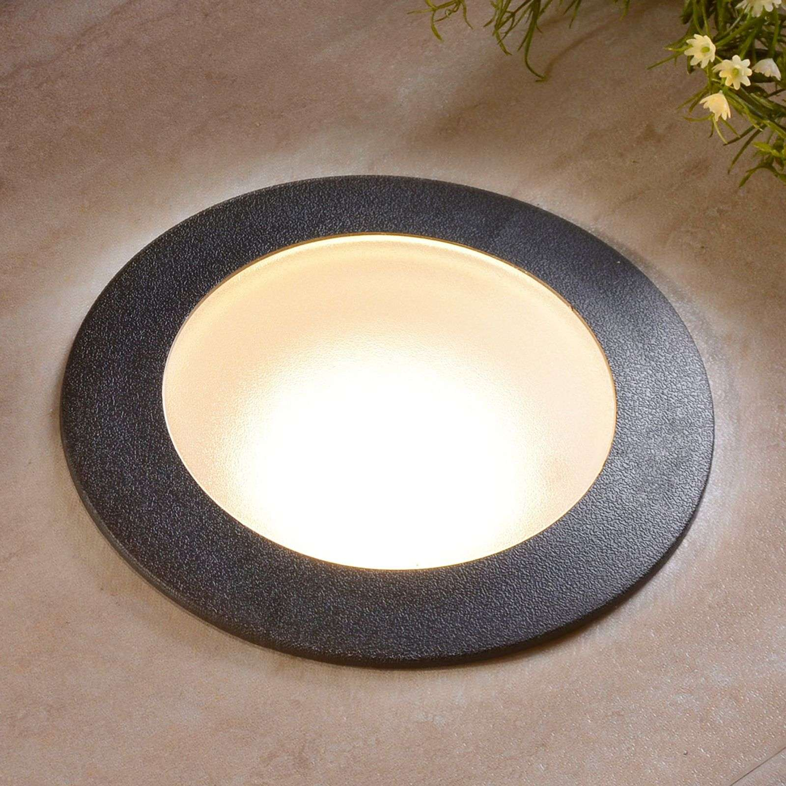 CECI 160 LED recessed floor light, round, ww.