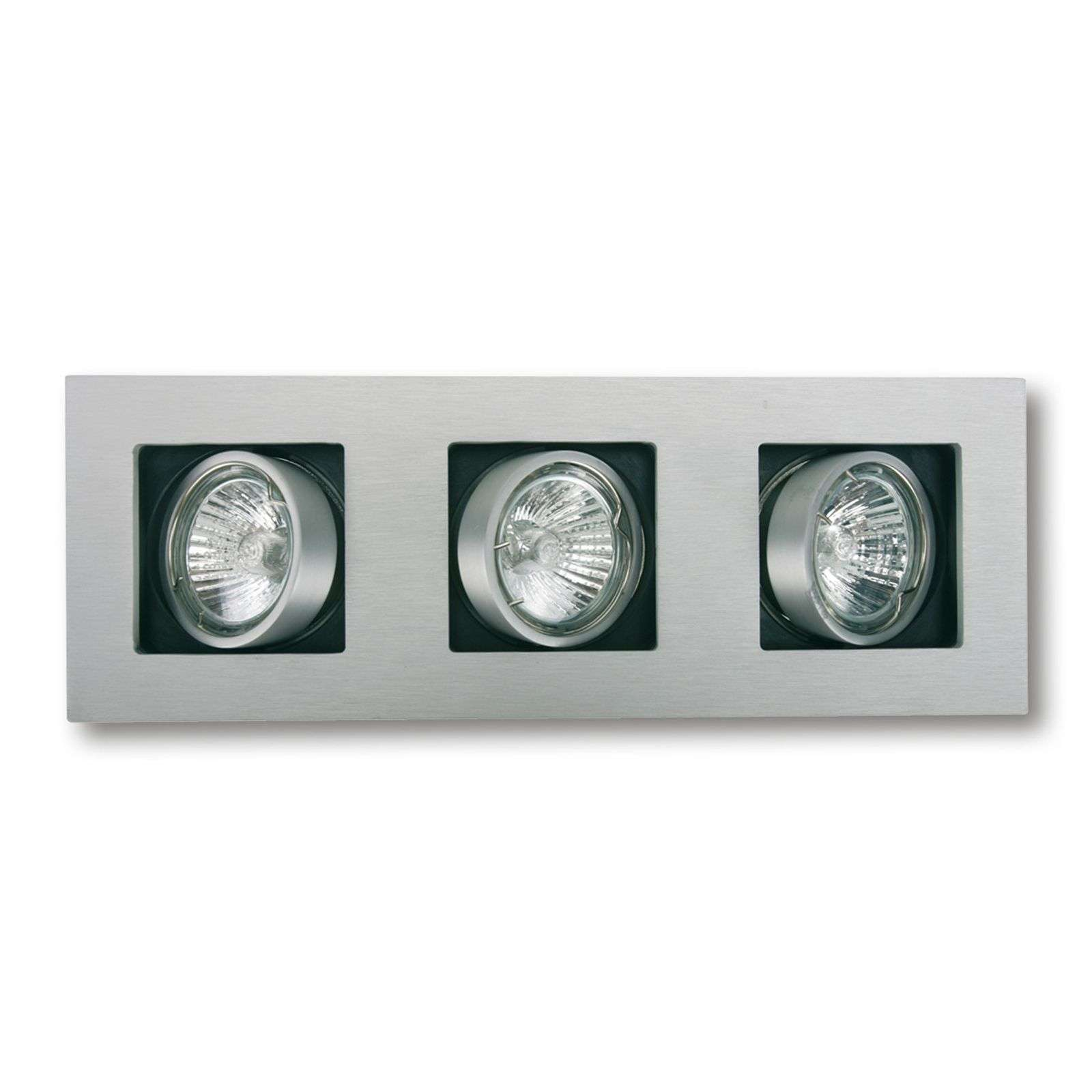 Three-bulb LED recessed light Multi, pivotable