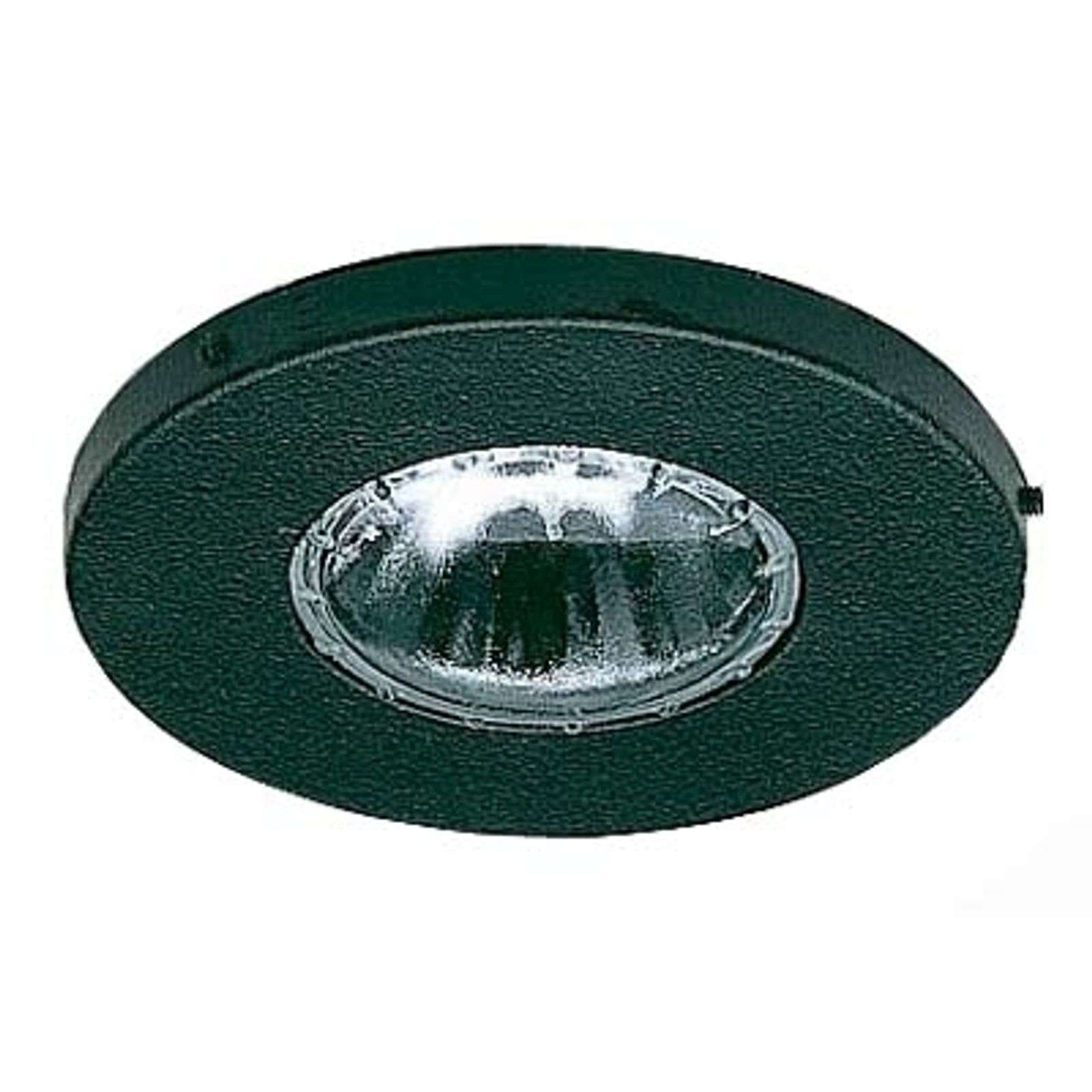 Orio outdoor recessed ceiling spotlight in black