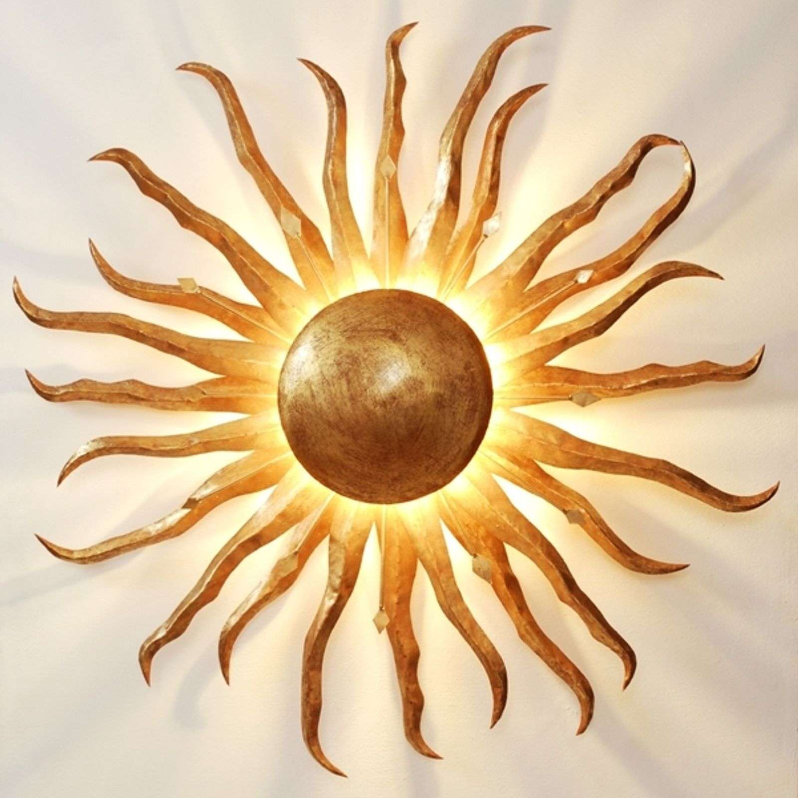 Fascinating wall lamp SONNE GOLD GIGANTE