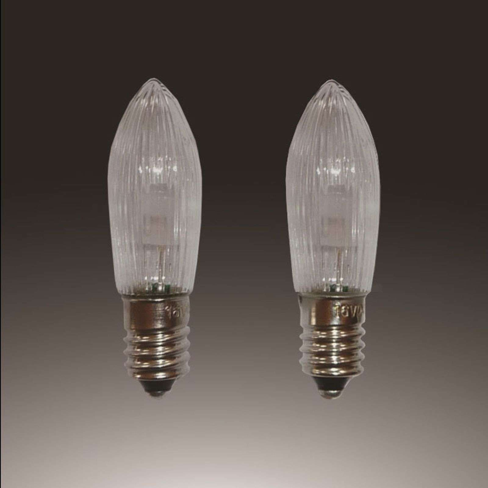 E10 0.1 W 12 V LED spare bulbs, pack of 3, candle thumbnail