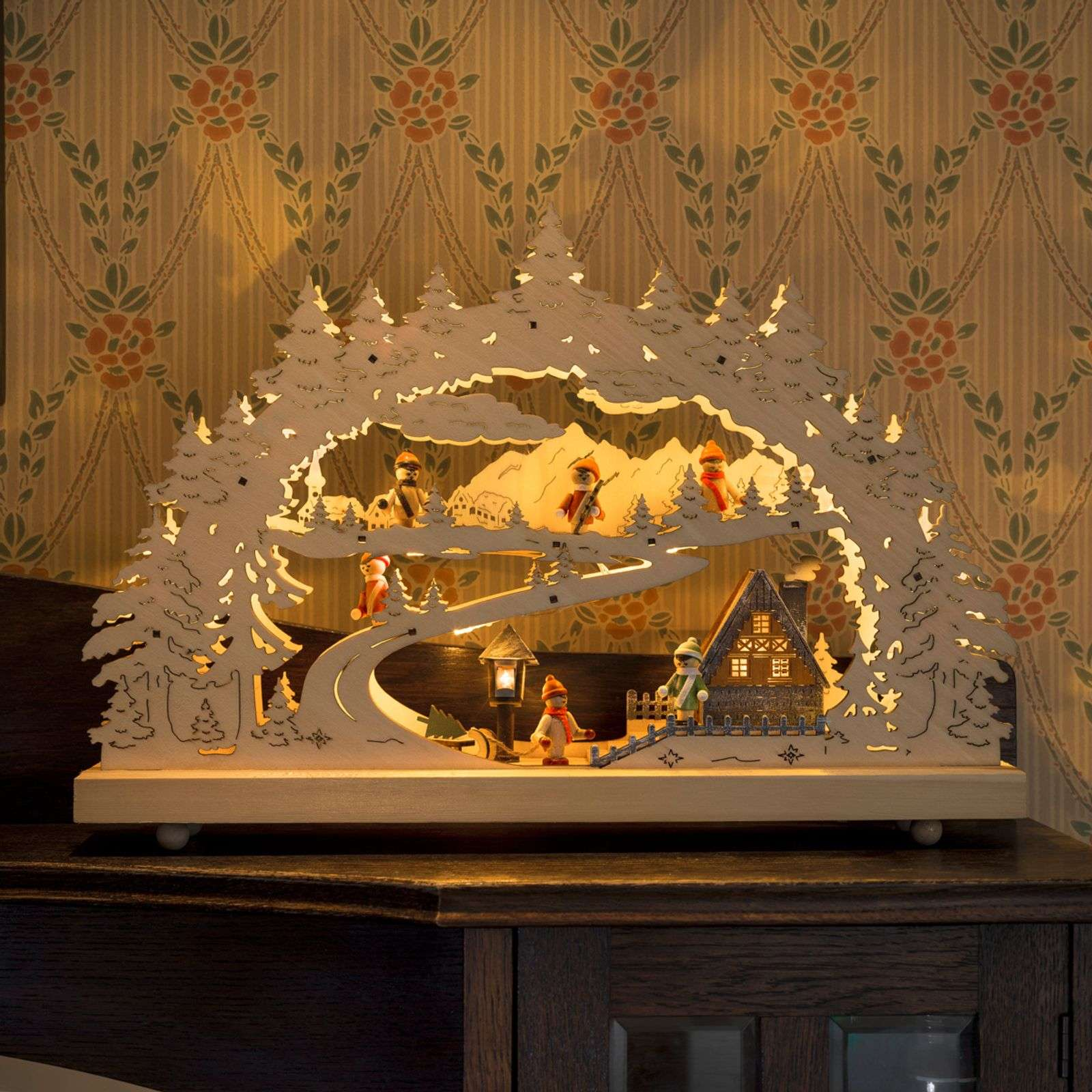 Decorative LED candle arch Snow-covered Landscape thumbnail