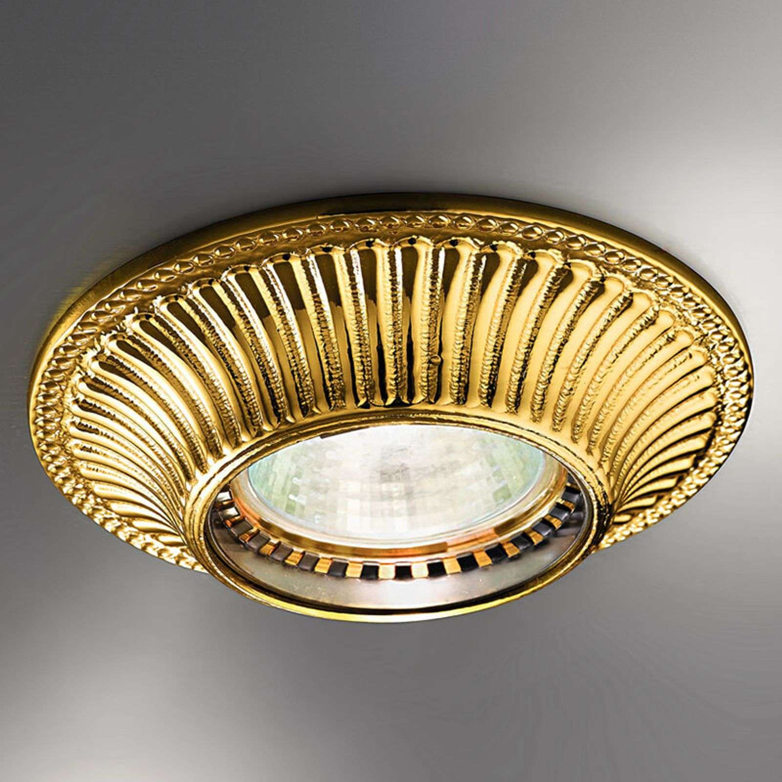 Appealing recessed light Milord, French gold