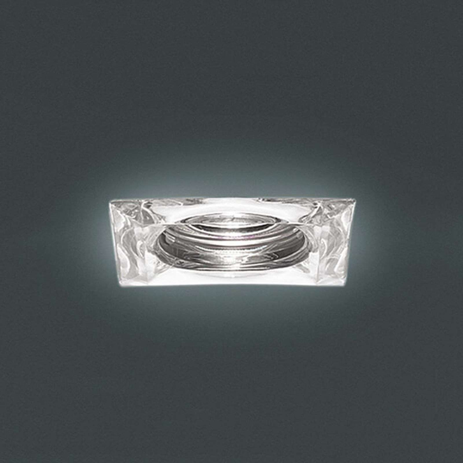 Mira 2 - clear recessed light in angular shape