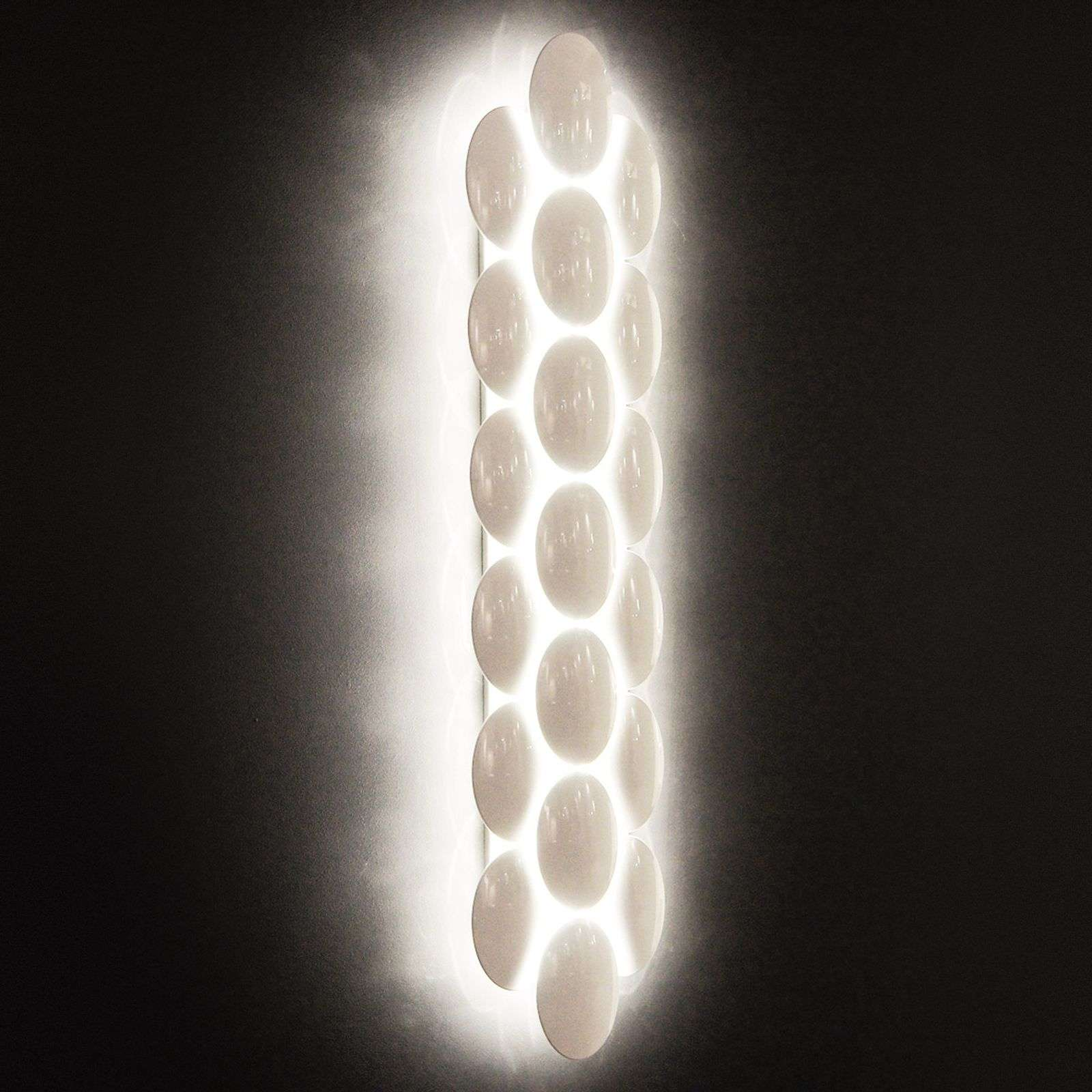 Dimmable LED wall light Obolo 14-bulb