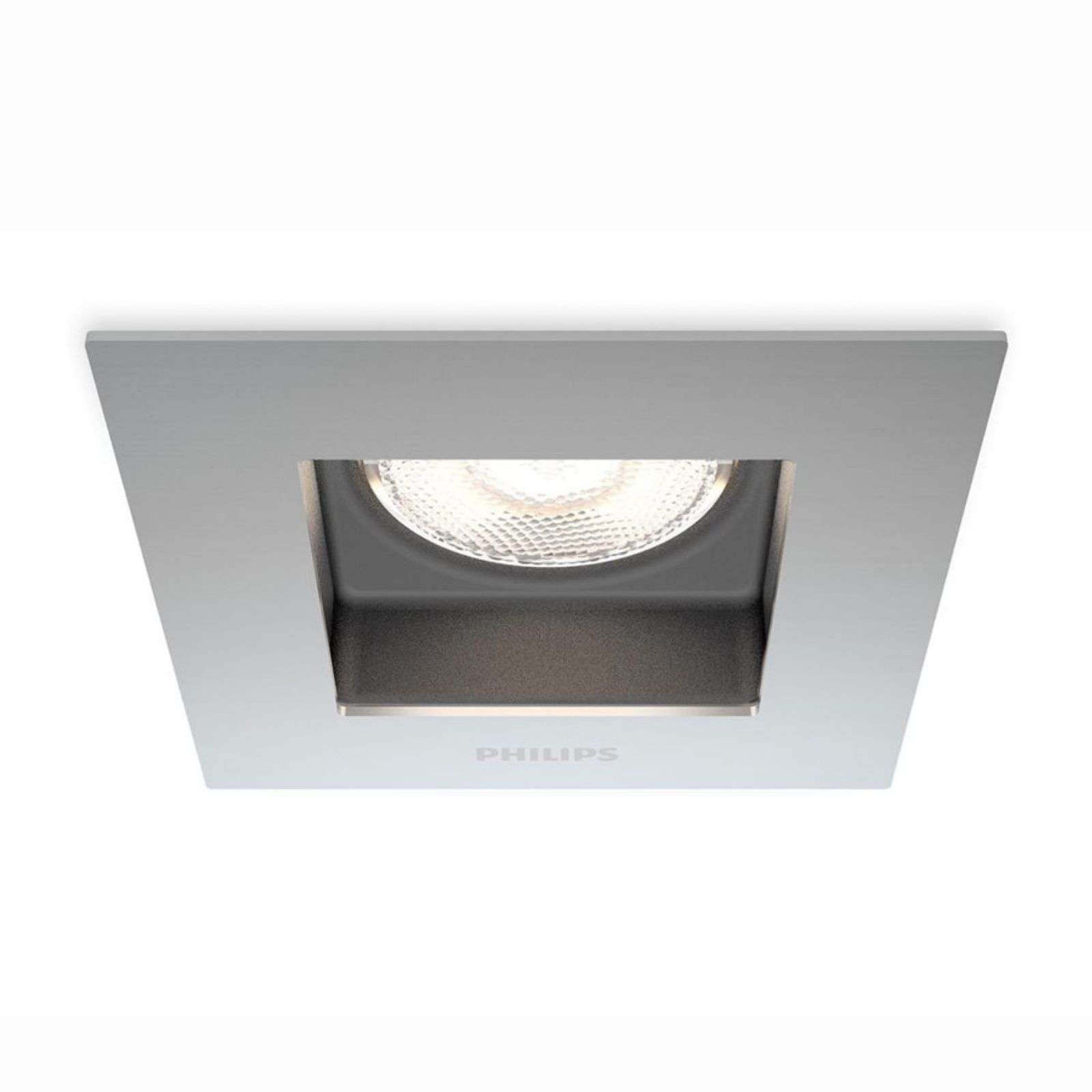 Porrima - LED recessed light with an angular shape