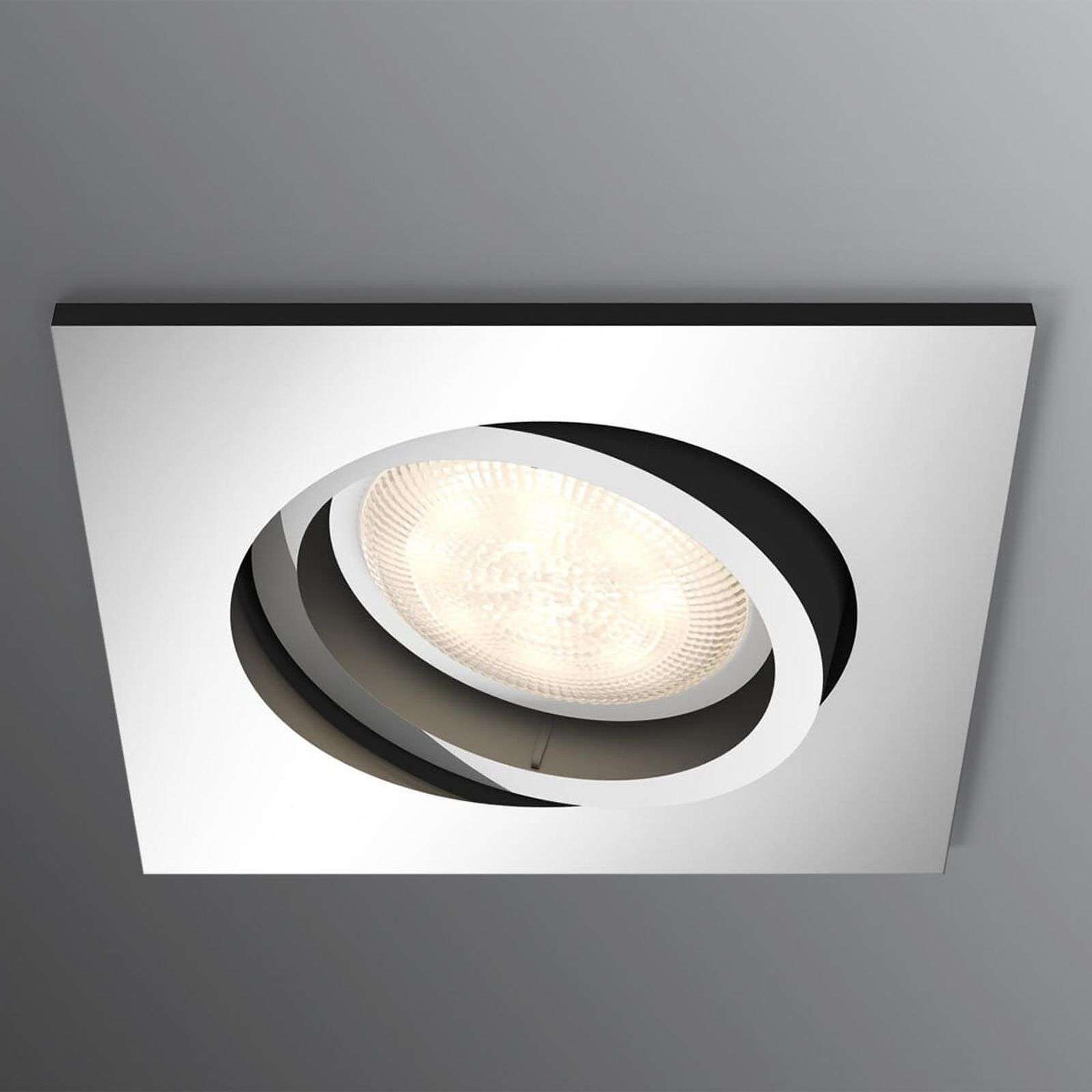 LED recessed spotlight Shellbark WarmGlow, chrome