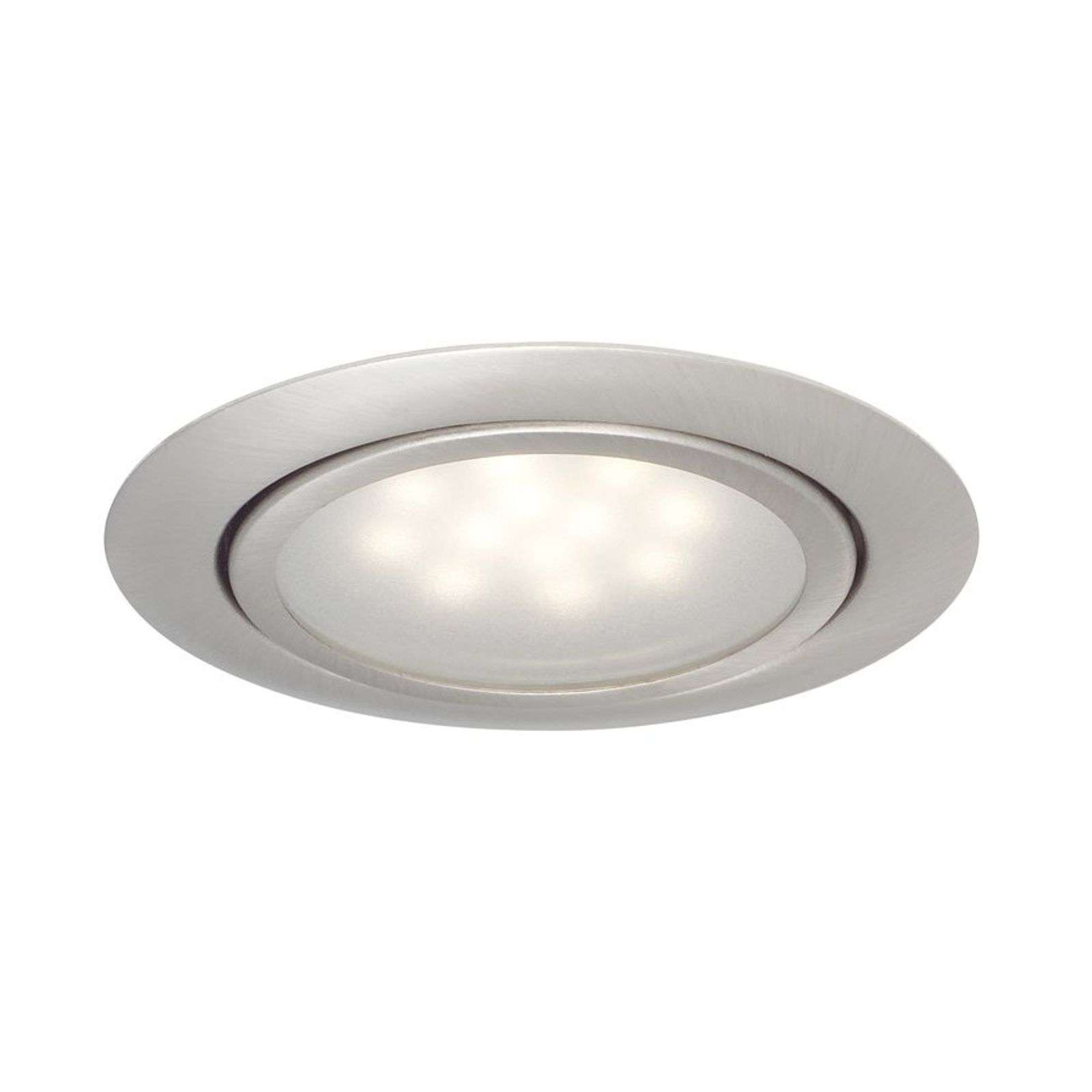LED recessed light Skinne in 3-set, brushed iron