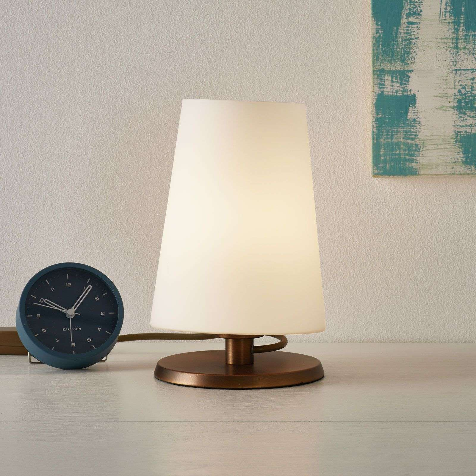Ancilla - table lamp with bronze touch dimmer