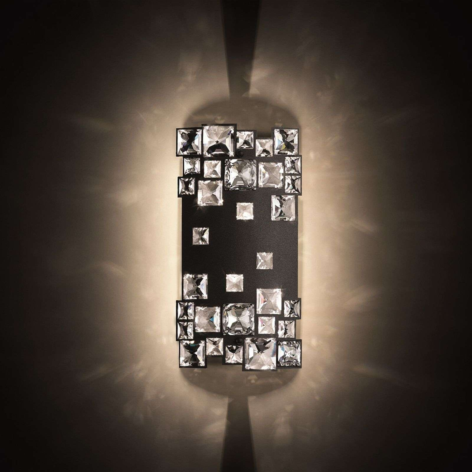 Mosaix - wall light in black with crystals