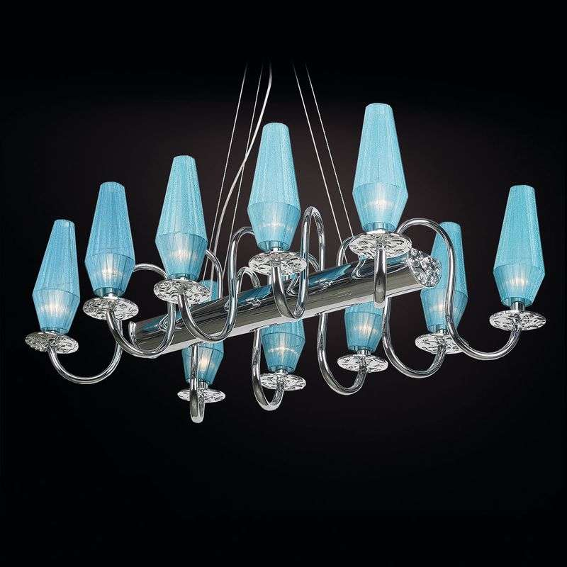 10-bulb chandelier Karma in turquoise Review thumbnail
