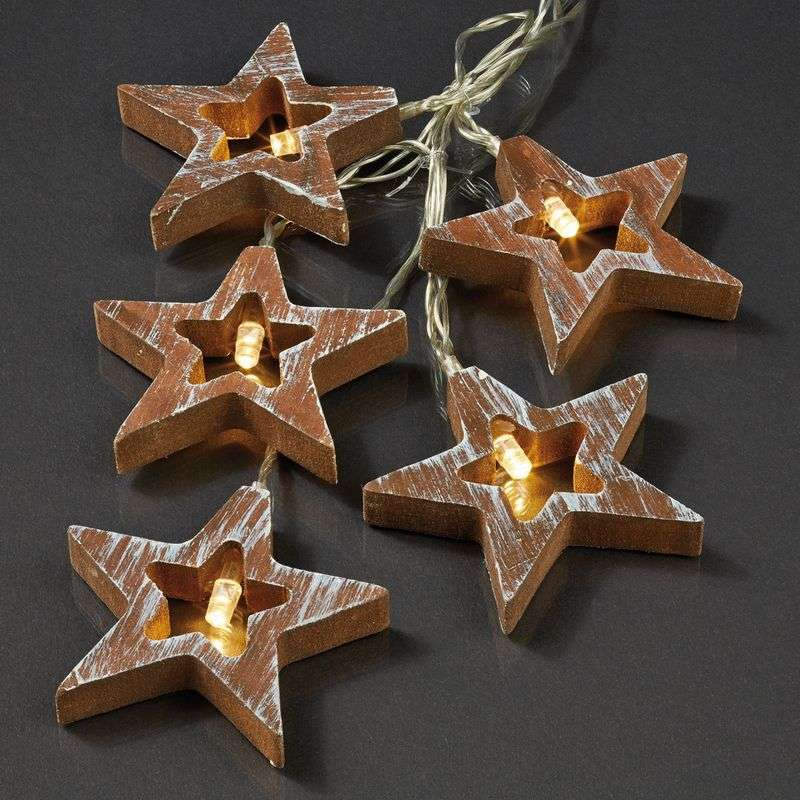 Attractive LED string lights, wood design star Review thumbnail