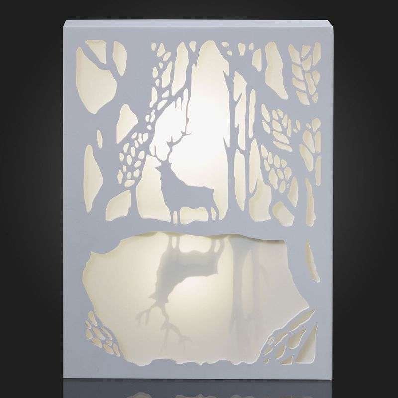 Attractive LED picture Reindeer by the Lake Review thumbnail