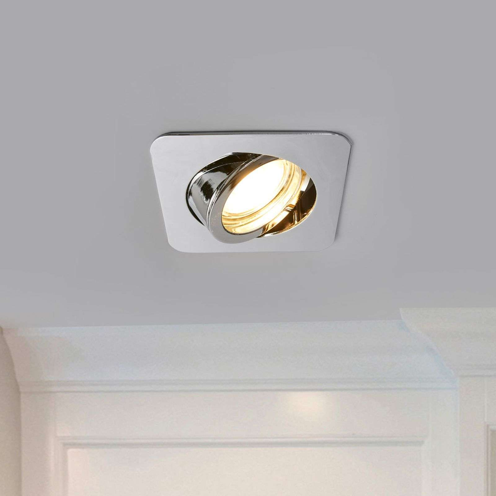 Charna chrome-plated LED recessed light