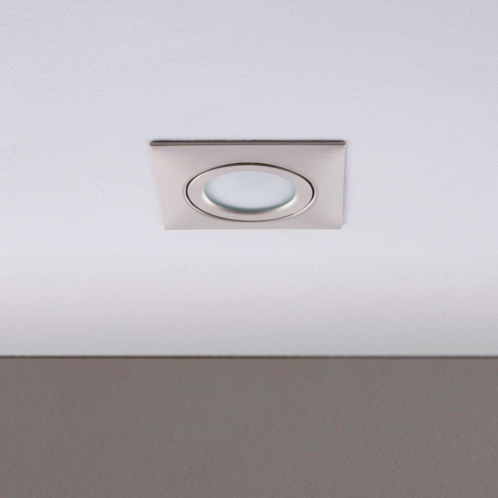 Nickel-coloured LED recessed ceiling light Andrej