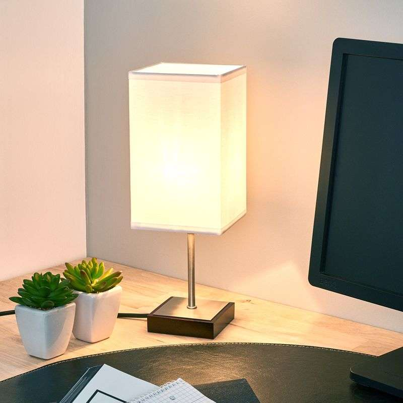 Duna-Touch table lamp in white