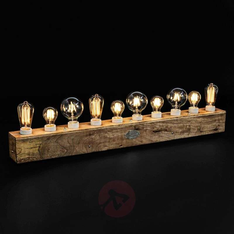 10-bulb wooden table lamp Edison Review thumbnail