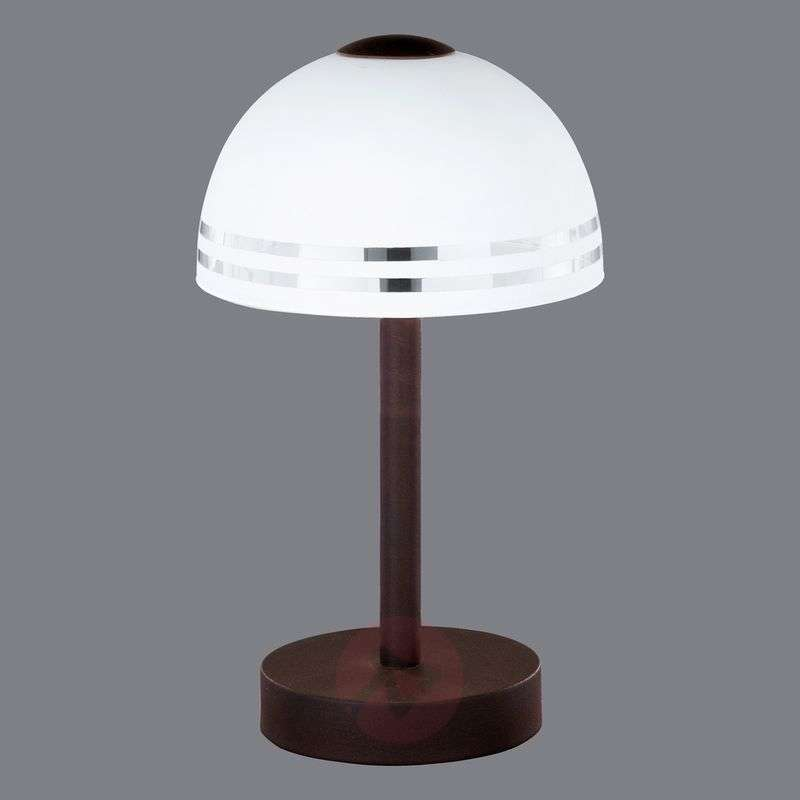 Country house table lamp Fabiana with touch switch