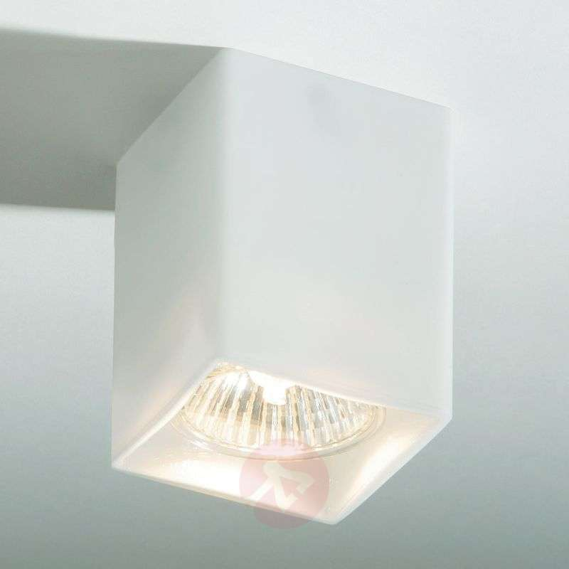 Wall lamps Ceiling lights Square ceiling light QUADRO made of white glass