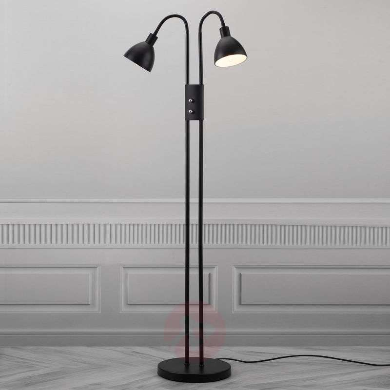Separately switchable Ray floor lamp - with dimmer